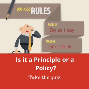 Difference Between a Principle or a Policy Quiz